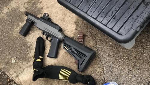 The gun and cannabis were seized during a search in Drumconrath