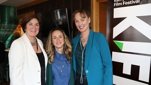 From left to right: KIFF Chairperson Grainne O'Donnell, screenwriter Ailbhe Keogan, and KCC Arts Officer Kate Kennelly