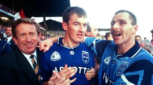 John O'Leary celebrates winning the 1995 All-Ireland title