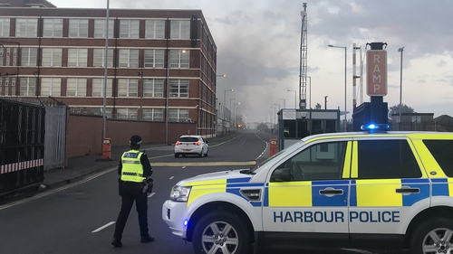 Over 50 firefighters were involved in extinguishing the blaze in Belfast