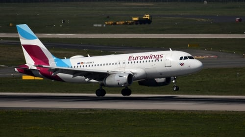 A Eurowings plane was forced to turn back on arrival in Sardinia