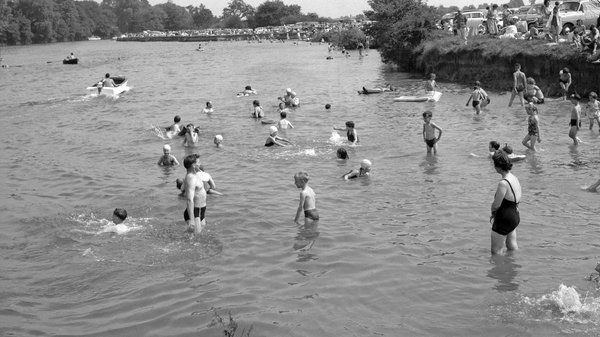 Bathing in the River Thames at Runnymede in a bygone age. Wollheim, the author of the much-acclaimed Germs, spent his early years in Surrey.