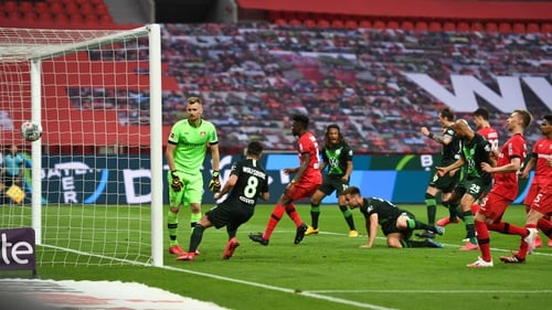 Wolfsburg romped to a surprise away win over in-form Bayer Leverkusen