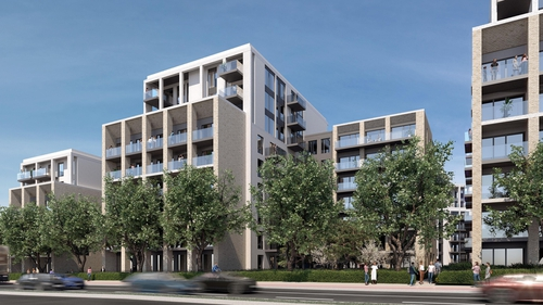 The proposed development comprised 611 apartments in nine blocks up to ten storeys high