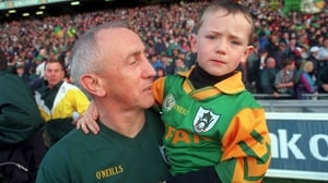 Sean Boylan pictured with his son in 1996