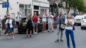 Local residents clap their hands outside Chelsea and Westminster Hospital in London during last Thursday's event
