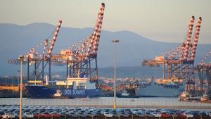 The port at Gioia Tauro