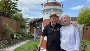 Noel and Geraldine Cavanagh with their lighthouse