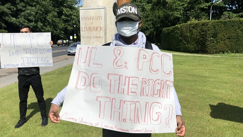 A number of post graduate students had mounted a protest at the university yesterday