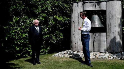 Ryan Tubridy with President Higgins