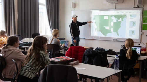 Children returned to school in Denmark following a two-month shutdown