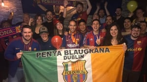 Members of the Barcelona Dublin supporters group