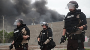 Police on the streets of Minneapolis which has been gripped by days of violent protests