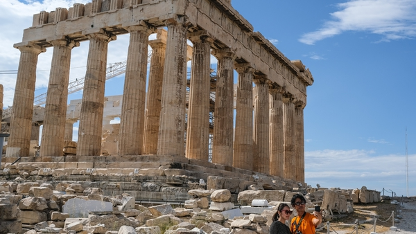 The Acropolis in Athens, Greece in a photograph taken on Saturday, May 23, 2020