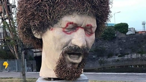 The statue was unveiled on the 35th anniversary of his death by President Michael D Higgins in January 2019