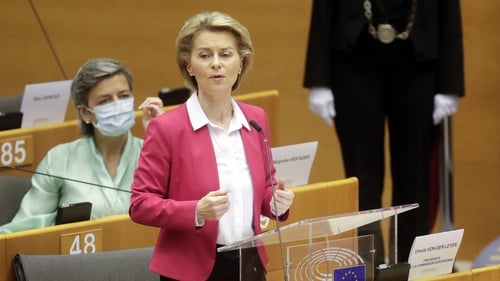 EU Commission president Ursula von der Leyen (above) and  Foreign affairs chief Josep Borrell called on the US to rethink its decision