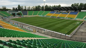 General view of the inside of Karpaty's home ground in Lviv