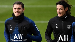 Edinson Cavani (R) and Mauro Icardi will compete for a place up front