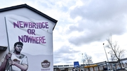 The Newbridge or Nowhere mural outside St Conleth's Park