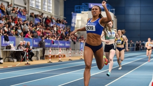Nadia Power en route to securing her first national title earlier this year
