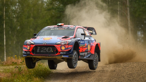 Craig Breen in action at Rally Finland last year