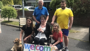 Laura Barry returned home after six weeks in hospital