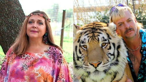Carole Baskin will take control of Joe Exotic's former zoo / Images: Netflix