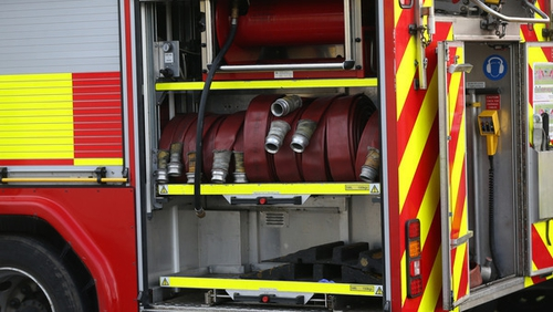 Louth County Fire Service is working to bring the blaze under control (Pic: RollingNews.ie)