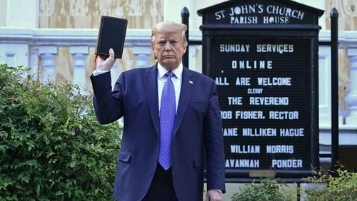 """Donald Trump: """"it's likely there will be more claims of religious liberty under threat and more merging of religion with issues such as gun control, abortion and economic policy."""""""