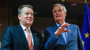 Brexit negotiators David Frost and Michel Barnier