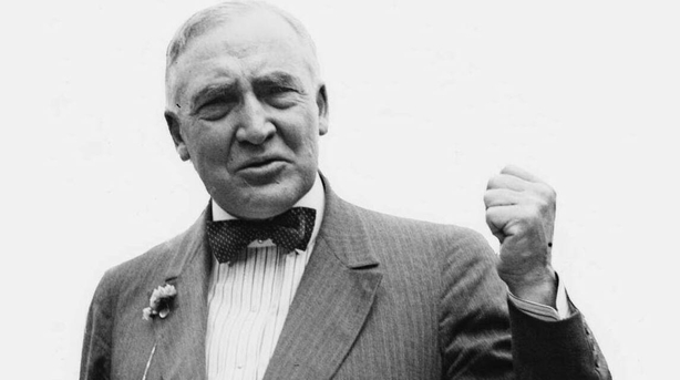 Warren G. Harding, the Republican candidate for president of the United States