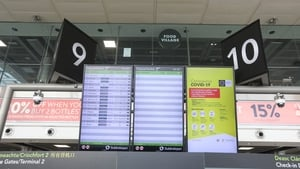 A departures board in April at Terminal One at Dublin Airport (File pic: RollingNews.ie)