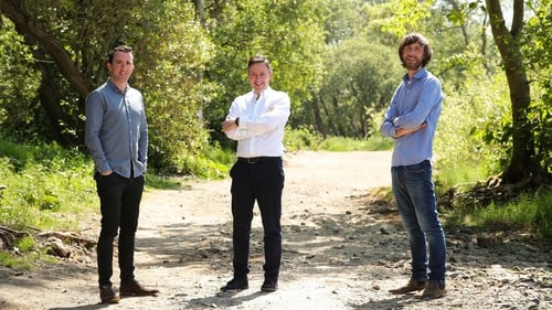Ciaran Devine, co-founder of Bright, Brian Donaldson, CEO The Maxol Group, and Stephen Devine, co-founder of bright