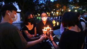 People gathered in Hong Kong's Victoria Park despite ban