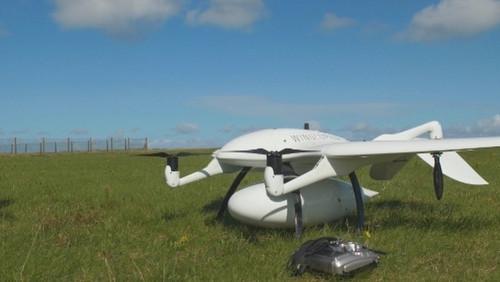 The drones were initially used to deliver insulin for diabetic use to the Aran Islands