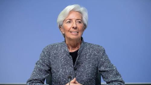 "ECB President Christine Lagarde said further ""ample stimulus"" is needed"