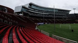 A view of an empty Nippert Stadium in Cincinnati following the suspension of the Major League Soccer regular season