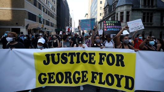 George Floyd memorial: 'Get your knee off our necks'