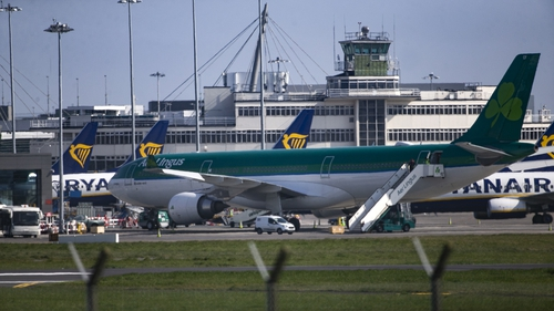 Dublin Airport has seen an 81% reduction in average daily movements