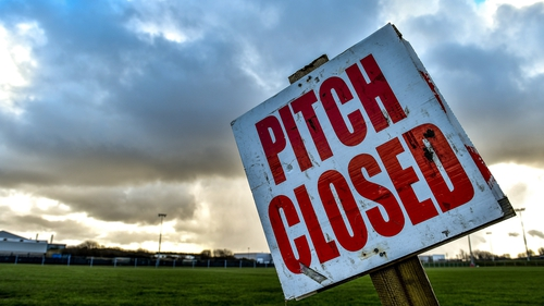 The GAA training pitches will remain closed until 29 June