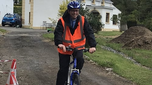 Church of Ireland rector David Huss is cycling around south Donegal to meet parishioners