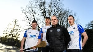 Liam Cahill with Waterford players (l-r) Conor Gleeson, Conor Prunty and Kieran Bennett