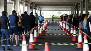 People queue outside IKEA in Dublin (Pic: RollingNews.ie)