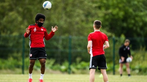 Walter Figueira and the rest of the Derry squad are back training