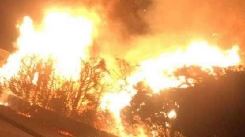 The fire         occurred last Sunday night (Pic Ruairí Ó Murchú)