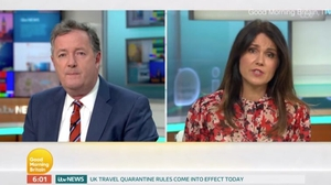 Piers Morgan and Susanna Reid on Monday's Good Morning Britain