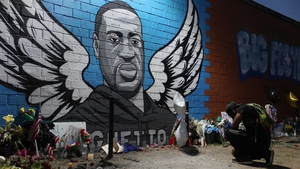 A mural to George Floyd in Houston, Texas, where he grew up (file pic)