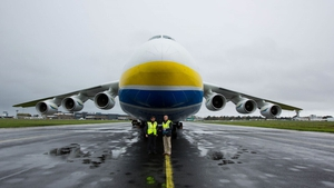 Six-storey high Antonov AN-225 cargo transporter is carrying PPE to Shannon, including one million medical gowns