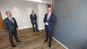 Quintain's Eddie Byrne, Michael Hynes and newly appointed Head of Construction Norman Higgins