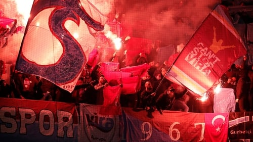 Trabzonspor supporters in full flow